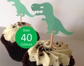 Dinosaur Themed Cupcake Toppers - T-Rex Fancy Toothpicks - Cake Topper - Party Decorations - Kids Birthday Parties Decor - FREE POST AUS