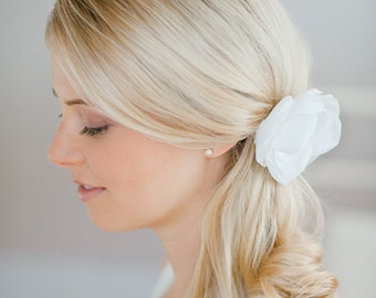 silkflower headpiece bride
