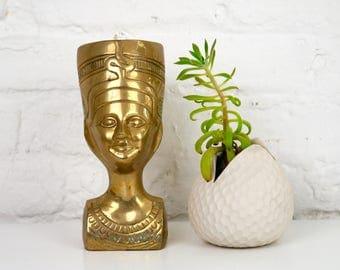 Brass Nefertiti Bust Egyptian Head