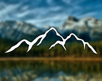 Mountain Silhouette Sticker - Decal for Car, Laptop, Macbook, iPad - Style 1