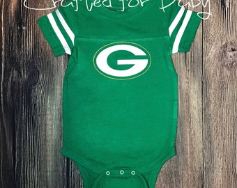 Green Bay Packers Themed Bodysuit Onesie Baby Toddler Youth Adult Shirt