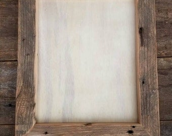 Handmade reclaimed fir picture frame, 1-1/2 inch wide