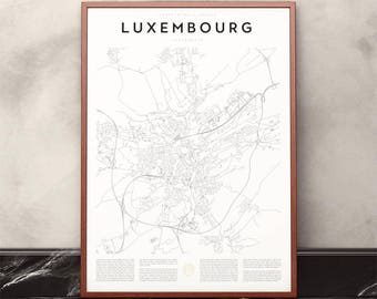 Luxembourg Map Print
