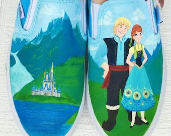 Disney Painted Vans Frozen Fever - Shanny's Shoes