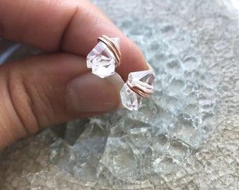 Herkimer Diamond Studs