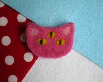 On sale! Third Eye Kitty Brooch - Pink - was 20 pounds