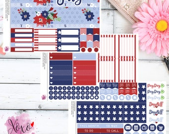 July 4th of July Monthly Kit for your Erin Condren Planner