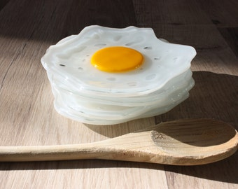 Fused Glass Fried Eggs...So Many Uses!