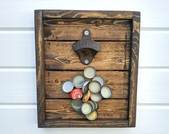 Wall mount bottle opener etsy - Bottle opener wall mount magnet ...
