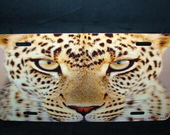 CHEETAH METAL Novelty License Plate For Cars  Big Cat Tiger Lion Jaguar Wild life Cat Paws Cheetah Eyes
