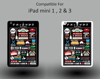 Friends TV Sitcom Quotes Joey Art Work Funny Hard Plastic iPad Mini 1/2/3 Cover IPM015