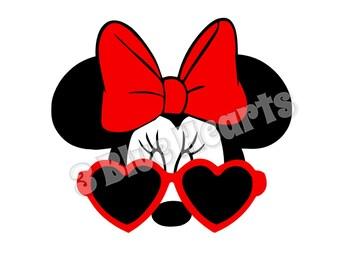 Minnie Mouse with Glasses svg dxf pdf jg studio