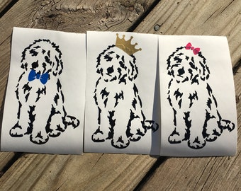 Doodle Wearing Crown, Doodle Wearing Hair Bow, Doodle Wearing Bow Tie, Free INTERNATIONAL Shipping