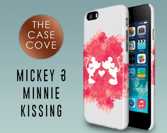 Mickey & Minnie Mouse Kissing iPhone Case - iPhone 7 SE 4 4s 5 5s 5c 6 6s 6 + Plus - Hard Plastic - Protective - Watercolour - Watercolor