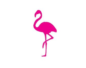 Flamingo Decal - vinyl decal, flamingo car decal, laptop decal, laptop sticker, flamingo decals