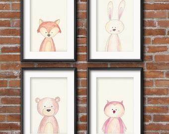 "4 set A5 poster ""Wild animals"""