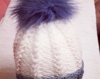 Handmade Knitting, Slouchy Beanie Hat, gift for women , wool end acrylic,romantic FREE SHIPPING