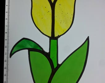 Stained Glass Tulip Sun Catcher