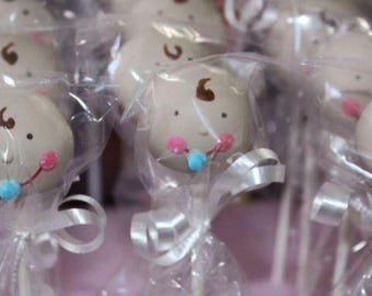 Baby face cake pop, baby shower