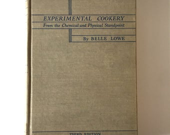 """1943 """"Experimental Cookery"""" From the Chemical and Physical Standpoint Cookbook Hardback Book"""