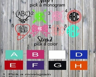 Monogram Decal, Decal, Custom Decal, 2 Decal, Decal Sale