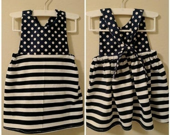 Polka dot and stripe dress
