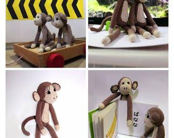 Hand crochet monkey
