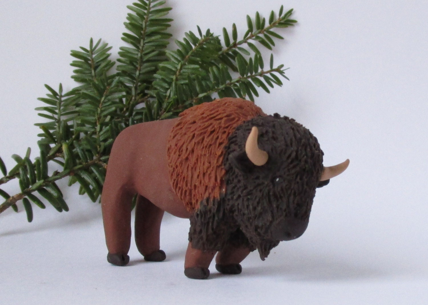how to make a buffalo out of clay
