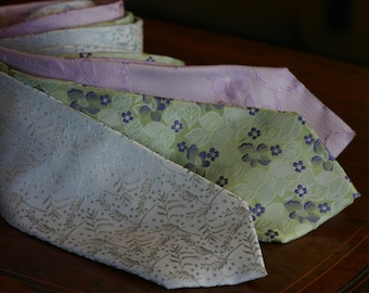 Australian designer Sergio Alvajee  - textured Italian silk ties in pastel colours, mint green, lilac, lime green, (3 designs available)