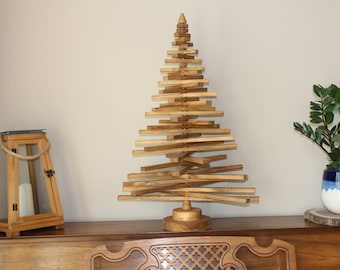 Wood Slat Spiral Tree Rustic Decor Tree Art