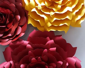 Paper Flower Template in PDF digital file #3