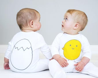 Baby Easter Outfit - Easter Chick - Easter Chick Sleepsuit
