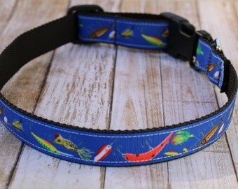 Large dog harness etsy for Fish dog collar