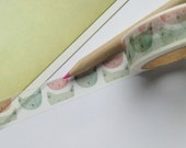 Watercolour illustrated Cats Washi Tape 15mm x 10m Pink & Green