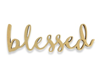 Blessed Sign | Blessed Wood Sign | Unfinished Word Cutout | DIY Words | Word Cutouts | Word Cut Out