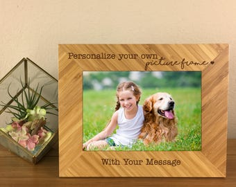 Personalized Picture Frame, Wedding Gift, Shower Gift, Mothers Day Gift, Birthday Gift, Housewarming, Gift for Pet Lovers, Gift for Her