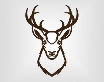 Buck Head Deer Hunting Svg, Cutout, Vector art, Cricut, Silhouette Cameo, die cut, instant download, Digital Cut, Printable, Ai, Pdf, Svg