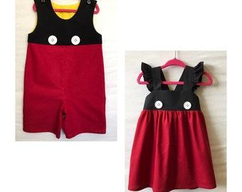 Mickey Mouse JonJon, Boys Disney Outfit,  Boys Shorts, Boys Onsie,