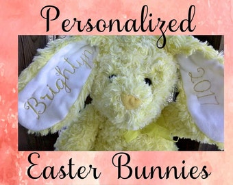 Embroidered stuffed Easter Bunny