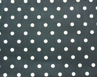 Polkadot Fabric, Cotton Fabric, Black, Polka Medium Dots, Basic Essential, Quilting Dressmaking Sewing Patchwork Supplies, Wide, Half Metre