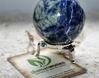 Sodalite Sphere 40-45 and stone: Quartz spheres-Spheres-sphere and stand-spheres-crystal ball-Sodalite- blue Sodalite