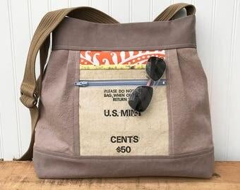 Everyday Bag, Bucket Bag, Oversize Shoulder Bag, Brown Bucket Bag, Brown Diaper Bag, Weekend Bag, Large Bucket Bag