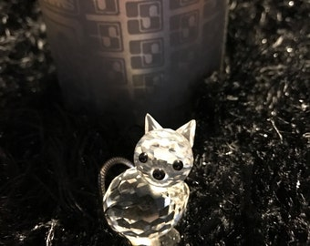 Retired Swarovski Miniature Cat