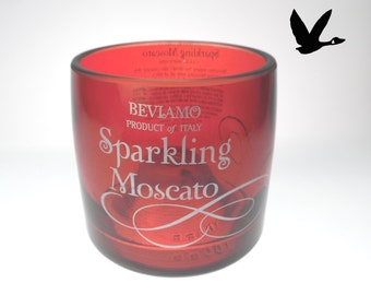 Beviamo Sparkling Moscato Upcycled Bottle Glass Gifting Weddings events Birthdays