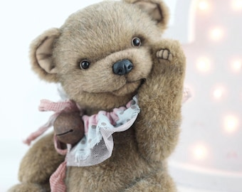 Artist teddy  Bear Truffle -  bear toy, stuffed bear, plush bear, collectibel bear