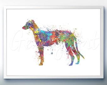 Greyhound Watercolor Art Print - Home Living - Animal Painting - Dog Poster - Wall Decor - Home Decor - House Warming Gift