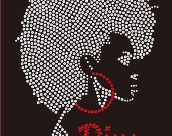 Fabulous Diva w/ Red Hoop Earrings