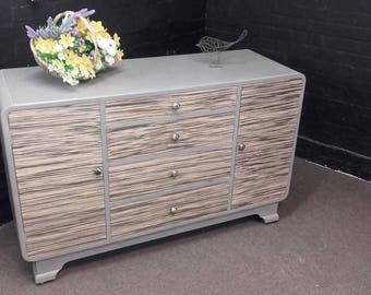 SOLD Art Deco Retro Sideboard Painted with A.Sloan chalk paint