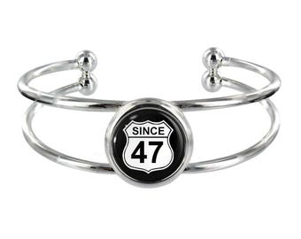 Since 47 Silver Plated Bangle in Organza Gift Bag
