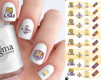LSU Tigers Nail Decals (Set of 50)